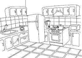 Small Picture How to Draw Kitchen Coloring Pages Download Print Online