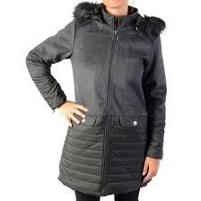 <b>Куртка средней</b> длины с капюшоном из искусственного меха ...