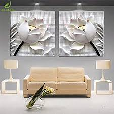 modern 3D white lotus definition pictures canvas ... - Amazon.com