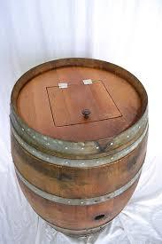 wine barrel receptacle arched napa valley wine barrel
