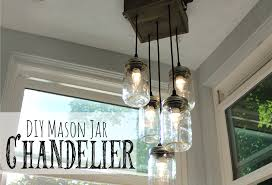 mason jar chandelier charming imperfections build diy mason jar chandelier