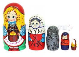 <b>Деревянная игрушка RNToys Матрешка</b> Сказка Красная Шапочка ...