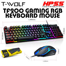 <b>T</b>-<b>WOLF TF200</b> / T20 / TF230 <b>USB Wired</b> Gaming <b>Keyboard</b> ...