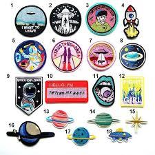 Alien Badges,<b>1 PCS</b>,Decoration Pins,Iron On <b>Patches</b>,Clothing ...