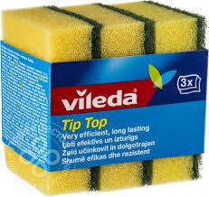 Купить <b>Губки</b> для посуды <b>Vileda</b> Тип-Топ классические 3шт с ...