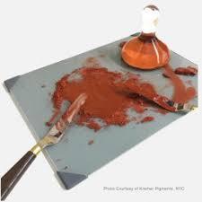 Posh® <b>Glass</b> Palette grey, 30 x <b>40 cm</b>   <b>Glass</b> Mullers & Marble slab ...