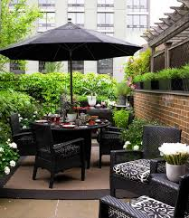 patio furniture with umbrella black black outdoor balcony furniture