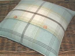 room mint green duck egg blue pillows wool mix tweed plaid tartan cushion throw pillow cover duck egg blue c