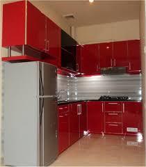 Contemporary Kitchen Cupboards Kitchen Exciting Contemporary Kitchen Design With Red Cabinets