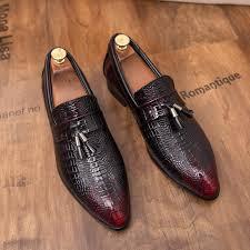 Italian Dress <b>Shoes Man Tassel</b> Loafers Leather <b>Business</b> Suit ...