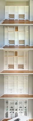 diy built in bookcases made with ikea hemnes furniture custom built in storage beautiful ikea closets convention perth contemporary bedroom