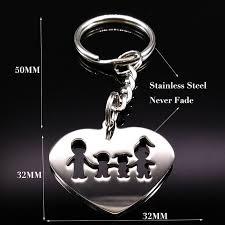 <b>2019</b> Famliy <b>Stainless Steel</b> Key Keychains Women Dad and Mom ...