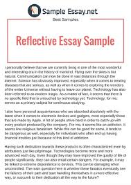 sample essays  scoopit example of reflective essay