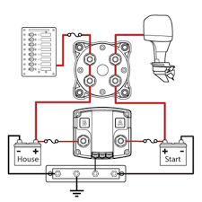 boat wiring diagram dual batteries solidfonts wiring help for single engine dual battery setup
