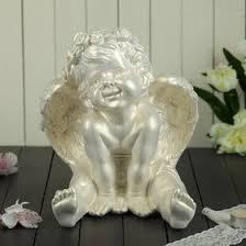 """<b>Статуэтка</b> """"<b>Ангел сидящий</b>"""" перламутровая, 26 см (1549787 ..."""