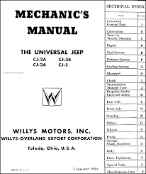 1946 1955 willys jeep cj repair shop manual original cj 2a cj 3a this manual covers 1946 1955 willys universal jeep models including the cj 2a cj 3a cj 3b cj 5 this book has 207 pages measures 8 5 x 11 and is