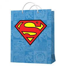 "<b>Пакет подарочный</b> большой ""<b>Superman</b>"" (голубой с <b>логотипом</b> ..."