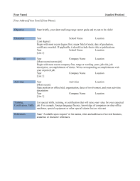 resume template executive templates classic 81 81 surprising one page resume examples template