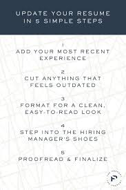 how to update your resume in  simple steps   the preparyupdate your resume