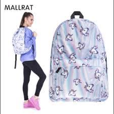 <b>Рюкзак</b> Aliexpress MALLRAT Women Unicorn <b>Backpack 3D Printing</b> ...