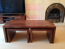 next coffee table plus 2 nest tables mango wood a9900 picclick uk mango coffee tables outstanding bargu mango wood side table
