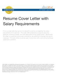 how to display salary requirements on resume equations solver salary sle letter re for increment ine