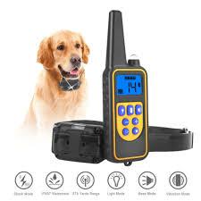LCD Display Pet Dog <b>Waterproof</b> Training Collar Rechargeable ...