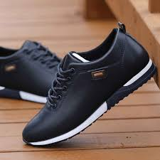 Outdoor Breathable Sneakers <b>Men's</b> PU <b>Leather</b> Business <b>Casual</b> ...