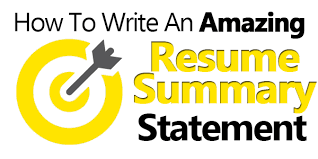 how to write an amazing resume summary statement examples included summary example resume