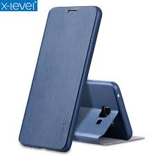 <b>X Level Book Leather Flip</b> Cases For Samsung Galaxy A7 2018 ...