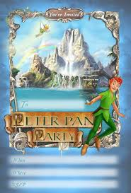 17 best images about party invitation disney peter pan invitations kids party invitations peter pan printable invitation new