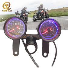 1set Odometer <b>Universal Motorcycle Mechanical</b> Speedometer 12V ...