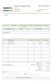 auto repair work order template work order form