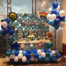 <b>30pcs</b>/<b>lot</b> Customize Print balloons 12inches <b>2.8g</b> White blue polka ...