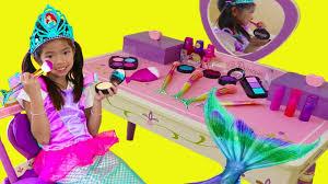 Emma Pretend Play Dress Up <b>Disney Princess Ariel Little</b> Mermaid ...