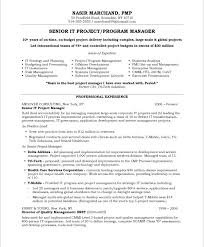 project manager resume format template management resume format