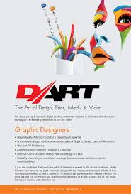 graphic designers at dart career first dart is seeking candidate for graphic designers position you need an understanding of the fundamental principles of graphic design layout animation