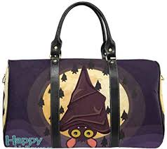 InterestPrint Large Duffel Bag Flight Bag Gym Bag <b>Happy Halloween</b>