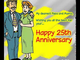 25th wedding Anniversary Ecards/Images - YouTube