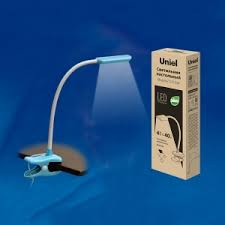 Офисная <b>настольная лампа</b> на прищепке <b>Uniel TLD</b>-<b>554</b> Blue ...