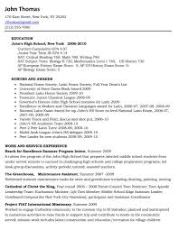 high school resume for college sample sample resume  resume