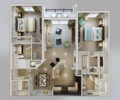 D FLOOR PLANS LAYOUT DESIGNS FOR  BEDROOM HOUSE OR APARTMENT - Two bedroomed house plans