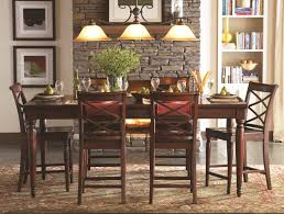 cherry counter height piece: aspenhome cambridge pc counter height leg dining table set in brown cherry icbdr by dining rooms