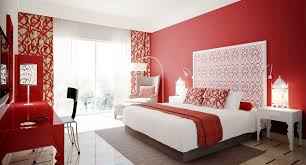 red wall paint black bed:  white and red bedroom decorating ideas light wall paint