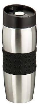 термокружка agness цвет черный с силиконовой вставкой 400 мл 709 053