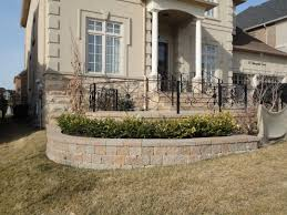 Small Picture Wrought iron fence brick