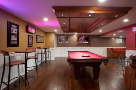 basement tables basement contemporary with recessed lights recessed lights man cave basement bar lighting ideas