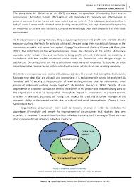 essay on organisational creativity