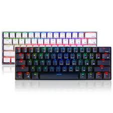 Royal kludge <b>rk61</b> 61 <b>keys mechanical</b> gaming <b>keyboard</b> bluetooth ...