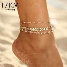 17KM Shell Anklet Beads Starfish Anklets For Women <b>2019 Fashion</b> ...